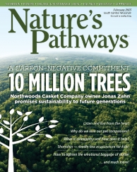 Cover of Feb Nature's Pathway - inside is Dr. Katie's articles